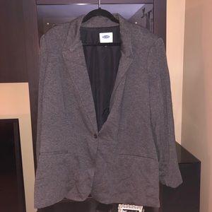 Old Navy Jackets & Coats - NWOT Old Navy gray longline blazer jacket 3x